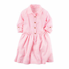 Carter's Long Sleeve A-Line Dress - Toddler Girls