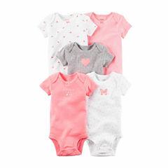 Carter's 5-pc. Bodysuit Set-Baby Girls