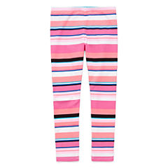Okie Dokie Floral Knit Stripe Leggings - Preschool
