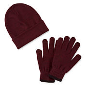 St. John`s Bay Beanie and Glove Set