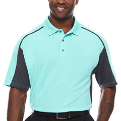 PGA TOUR Short Sleeve Airflux Color Block Polo- Big & Tall