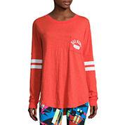 Flirtitude Drop Shoulder Long Sleeve Graphic T-Shirt