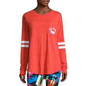 Flirtitude Drop Shoulder Long Sleeve Graphic T-Shirt