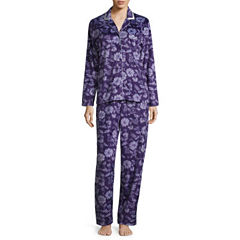 Earth Angels Microfleece Long Sleeve Pant Pajama Set
