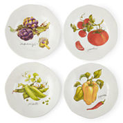 JCPenney Home™ Veggies Set of 4 Dinner Plates