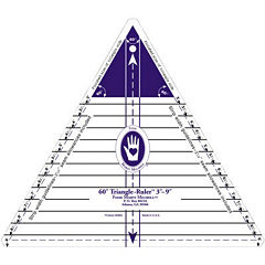 "60 Degree Triangle Ruler–3-9"""