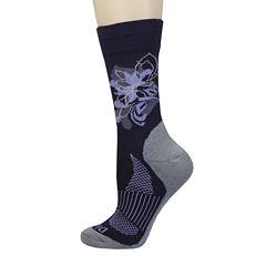 Dickies® Womens Wool-Blend Floral Crew Socks
