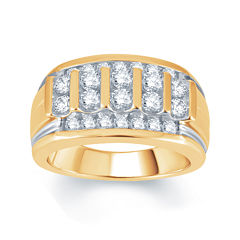 Mens 1½ CT. T.W. Diamond 10K Yellow Gold Ring