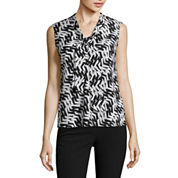 Black Label by Evan-Picone Sleeveless Blouse