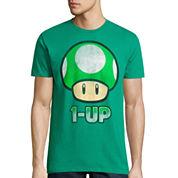Short Sleeve Super Mario Graphic T-Shirt