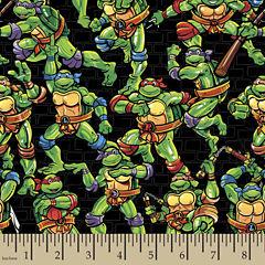Teenage Mutant Ninja Turtles Toss Cotton Fabric By The Yard