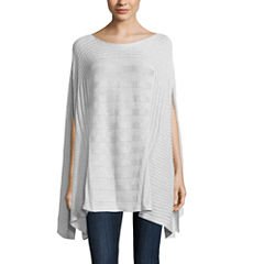 Worthington Short Sleeve Scoop Neck Poncho