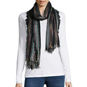 Studio 36 Striped Marled Woven Scarf