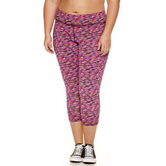 Flirtitude Jersey Workout Capris Juniors Plus