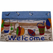 Beach Welcome Rectangular Doormat - 18