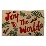 Tag Joy To The World Rectangle Doormat