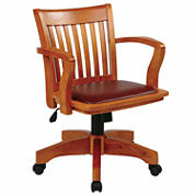 Lake Park Deluxe Bankers Office Chair with Vinyl Padded Seat