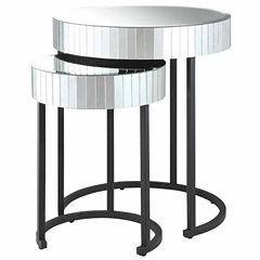 Krystal 2-pc. Round  Nesting Tables
