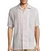 Haggar® Short-Sleeve Linen-Rayon Shirt