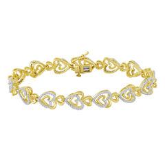ForeverMine®  1/10 CT. T.W. Diamond Heart Link Bracelet