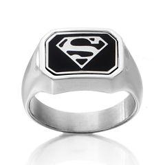 DC Comics® Stainless Steel Dad/Superman Reversible Ring