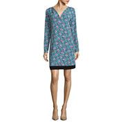 Nicole By Nicole Miller Long Sleeve Shift Dress