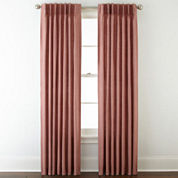 Royal Velvet® Supreme Pinch-Pleat/Back-Tab Lined Curtain Panel