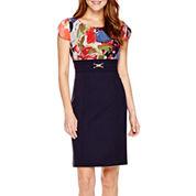 Alyx® Short-Sleeve Sheath Dress - Petite