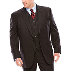 Stafford® Travel Charcoal Suit Jacket - Portly