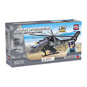 BricTek Air Force Apache Helicopter 5-In-1 Building Set