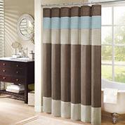 Madison Park Trinity Pleated Shower Curtain