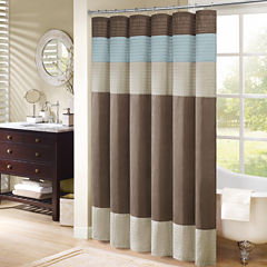 Madison Park Trinity Pleated Shower Curtain