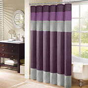 Madison Park Florence Pleated Shower Curtain