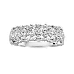 I Said Yes™ 1/2 CT. T.W. Diamond Bezel-Set Wedding Band