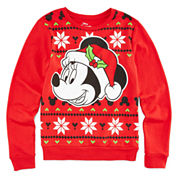Minnie Mouse Holiday Sweater - Girls 7-16
