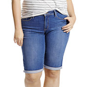 Levi's Denim Bermuda Shorts-Plus