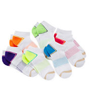 Gold Toe® 6-pk. Double Stripe Low-Cut Liner Socks - Girls