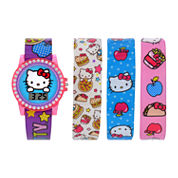 Hello Kitty Girls Pink Strap Watch-Hk3004jc