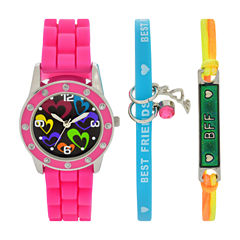 Total Girl Girls Pink Watch Boxed Set-Ttg1005jc