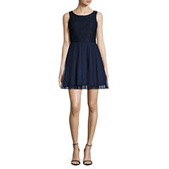 Speechless Sleeveless A-Line Dress-Juniors
