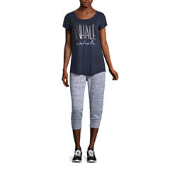 Xersion™ Studio Graphic Short Sleeve Tee or Studio Sweater Jersey Jogger