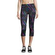 Xersion™ Medium Support Removable Cup Sports Bra, Studio Keyhole Knit Tank Top, or Print Capris