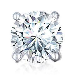 1/2 CT. Single Round Diamond Stud Earring 10K White Gold
