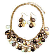 Mixit™ Multicolor Bead and Glittery Disc Earring and Necklace Set