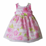 Pinky Sleeveless Empire Waist Dress - Baby Girls