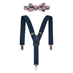Wembley Plaid Bow Tie and Suspender Set - Boys