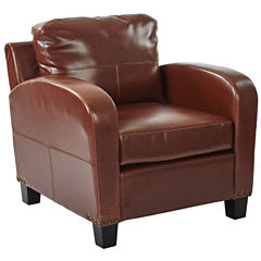 Jacob Faux Leather Club Chair