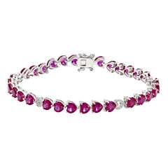 Lab-Created Red Ruby Tennis Bracelet