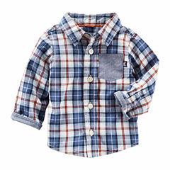 Oshkosh Long Button Front Shirt-Baby Boys