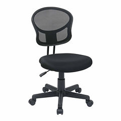 Mesh Task Office Chair with Fabric Seat